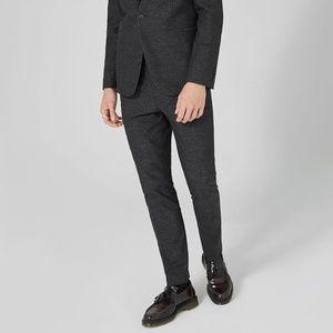 Topman Skinny Fit Stripe Cotton Suit Pants